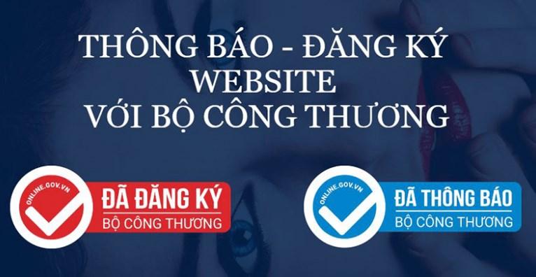 thủ tục thông báo website
